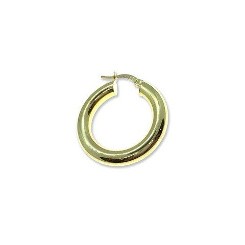 Gold Bombeli Halka Küpe - 2,5cm