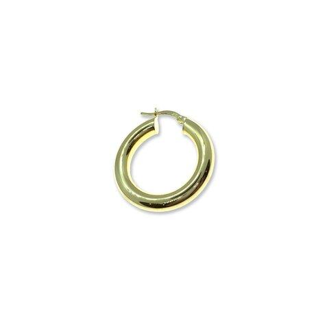 Gold Bombeli Halka Küpe - 2cm