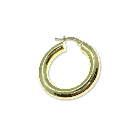 Gold Bombeli Halka Küpe - 3cm