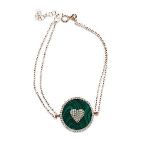 Kalp Figürlü Yeşil Bileklik