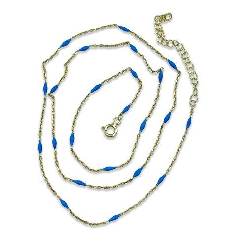 Mavi Mineli Zincir - 40cm